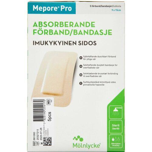 Køb Mepore Pro 9x15 cm 5 stk. online hos apotekeren.dk