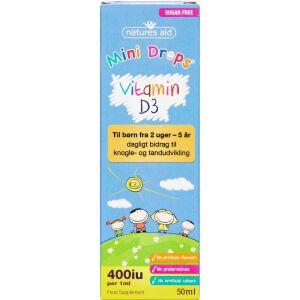 Køb NATURES AID MINI DROPS VIT-D3 online hos apotekeren.dk