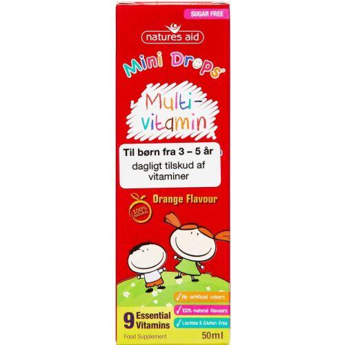 Køb Natures Aid Mini Drops Multi-vitamin 50 ml online hos apotekeren.dk
