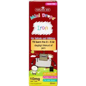 Køb NATURES AID MINI DROPS IRON online hos apotekeren.dk