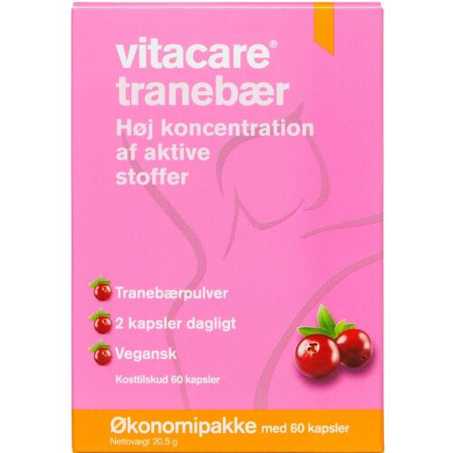 Køb Vitacare Tranebær 60 stk. online hos apotekeren.dk