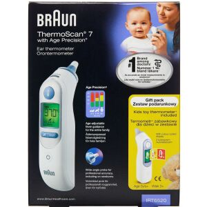 Køb Braun ThermoScan 7 termometer med Age Precision 1 stk. online hos apotekeren.dk