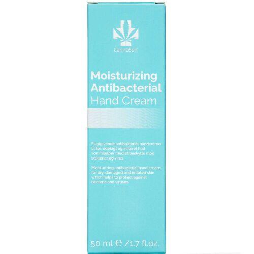 Køb CannaSen Moisturizing Antibacterial hand cream 50 ml online hos apotekeren.dk