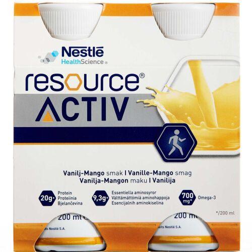 Køb RESOURCE ACTIV VANILLE-MANGO online hos apotekeren.dk