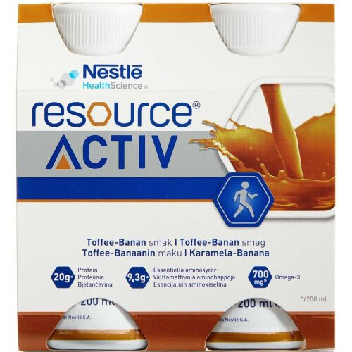 Køb RESOURCE ACTIV TOFFEE-BANAN online hos apotekeren.dk