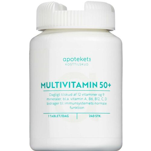 Køb APOTEKETS MULTIVITAMIN 50+TABL online hos apotekeren.dk