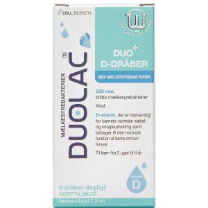 Køb DUOLAC DUO+ D-DRÅBER online hos apotekeren.dk