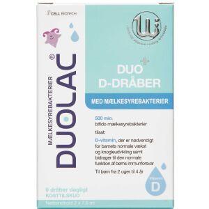 Køb Duolac Duo+ D-Dråber 2x7,5 ml online hos apotekeren.dk