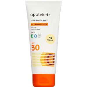 Køb APOTEKETS SOLCREME ANSIGTSPF30 online hos apotekeren.dk