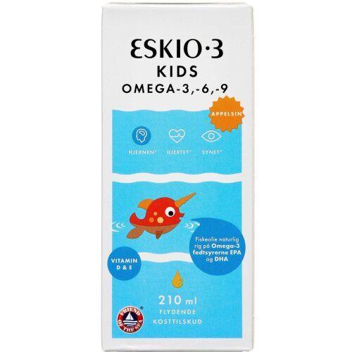 Køb ESKIO-3 KIDS OMEGA-3 APPELSIN online hos apotekeren.dk