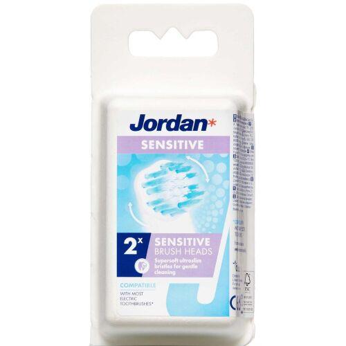 Køb Jordan Sensitiv børstehoved 2 stk. online hos apotekeren.dk