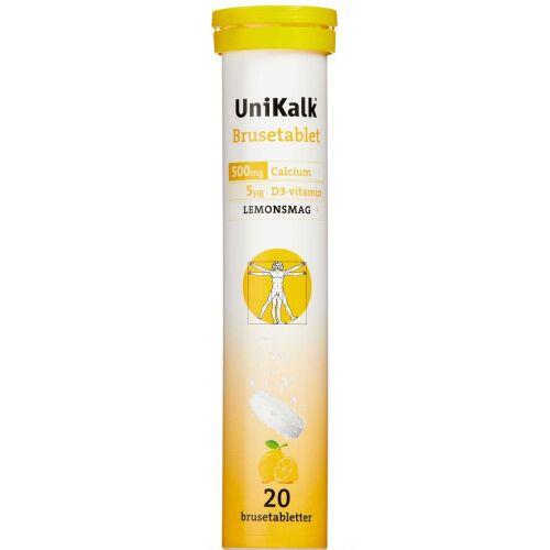 Køb UNIKALK BRUSETABL LEMON online hos apotekeren.dk