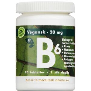 Køb B6 Vitamin tabletter 90 stk. online hos apotekeren.dk