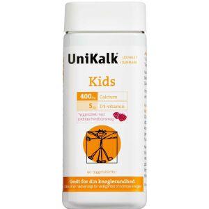 Køb UNIKALK KIDS JORDBÆR TYGGETABL online hos apotekeren.dk