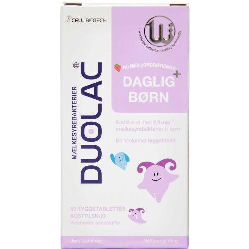 Køb DUOLAC DAGLIG+ BØRN TYGGETABL online hos apotekeren.dk