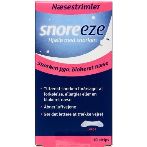 Køb SNOREEZE NÆSESTRIMLER STR L online hos apotekeren.dk