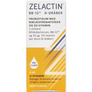 Køb ZELACTIN D-DRÅBER M/BB-12 online hos apotekeren.dk