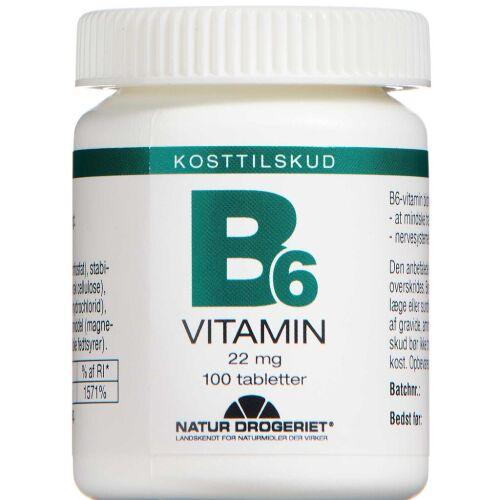 Køb B6-VITAMIN 22 MG TABLETTER online hos apotekeren.dk