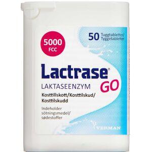 Køb LACTRASE GO TYGGETABLETTER online hos apotekeren.dk