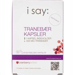 Køb I SAY: TRANEBÆR KAPS online hos apotekeren.dk
