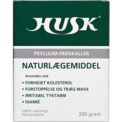 Køb HUSK Psyllium-Frøskaller 200g online hos apotekeren.dk