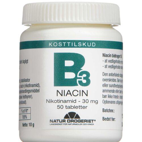 Køb Niacin Nikotinamid tabletter 50 stk. online hos apotekeren.dk
