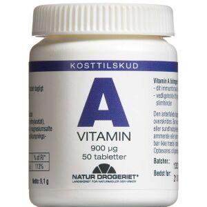 Køb A-Vitamin 3000 IE tabletter 50 stk. online hos apotekeren.dk