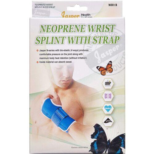 Køb Jasper Neopren håndbandage med skinne venstre hånd senior - sort 1 stk. online hos apotekeren.dk