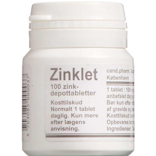 Køb Zinklet depottabletter 100 stk. online hos apotekeren.dk