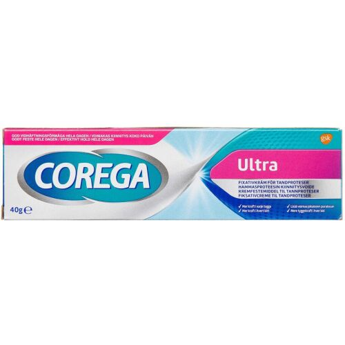 Køb Corega Ultra Creme 40 g online hos apotekeren.dk