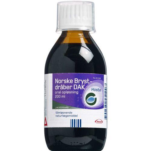 Køb Norske Brystdråber slimløsende 200 ml online hos apotekeren.dk