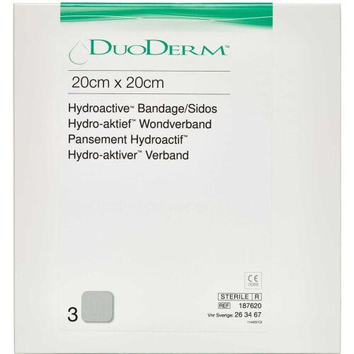 Køb Duoderm Sårbandage 20 x 20 cm 3 stk. online hos apotekeren.dk