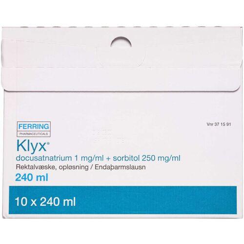 Køb KLYX REKTALVÆS.OPL 1+250MG/ML online hos apotekeren.dk