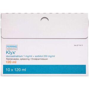 Køb KLYX REKTALVÆS. OPL 1+250MG/ML online hos apotekeren.dk