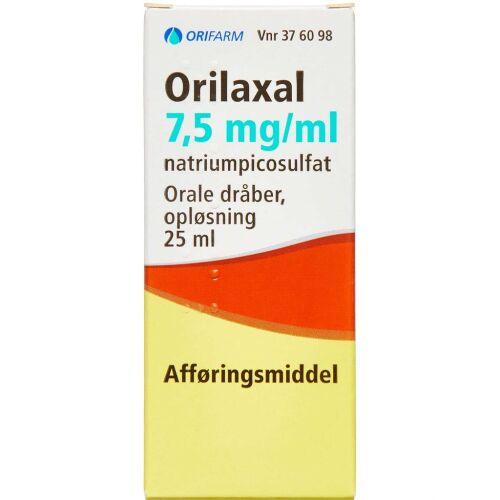 Køb ORILAXAL ORAL.DRÅBER 7,5MG/ML online hos apotekeren.dk