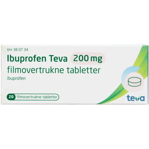 Køb IBUPROFEN TABL 200 MG (TEVA) online hos apotekeren.dk