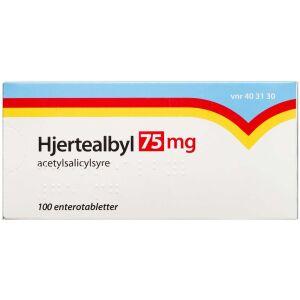 Køb HJERTEALBYL ENTEROTABL 75 MG online hos apotekeren.dk