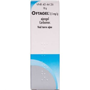 Køb OFTAGEL ØJENGEL 2,5 MG/G online hos apotekeren.dk