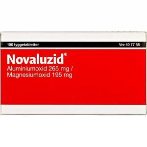 Køb NOVALUZID TYGGETABL 265+195 MG online hos apotekeren.dk
