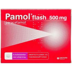 Køb PAMOL FLASH SMELTETABL 500MG online hos apotekeren.dk