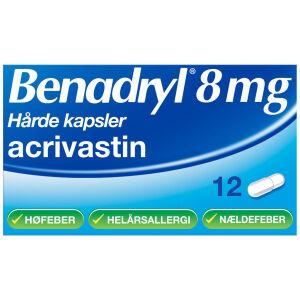 Køb BENADRYL KAPSLER 8 MG online hos apotekeren.dk
