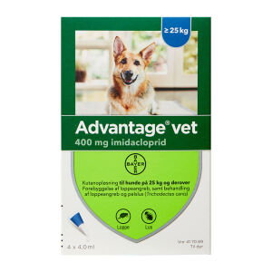 Køb Advantage Vet T/Hund 25-40 kg 4 x 4 ml online hos apotekeren.dk