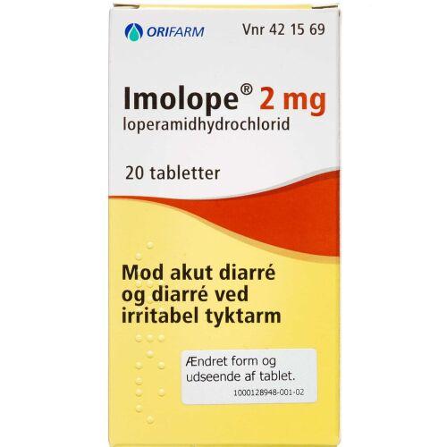 Køb IMOLOPE TABL 2 MG (ORIFARM) online hos apotekeren.dk