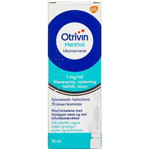 Køb OTRIVIN MENTHOL U/K NÆSESP 1MG online hos apotekeren.dk