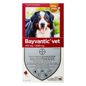 Køb BAYVANTIC VET T.HUNDE 40-60 KG online hos apotekeren.dk
