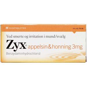 Køb ZYX SUGETABLET 3 MG APPEL/HONN online hos apotekeren.dk