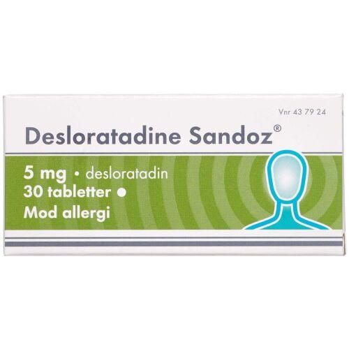 Køb DESLORATADINE TABL 5 MG (SANDO online hos apotekeren.dk