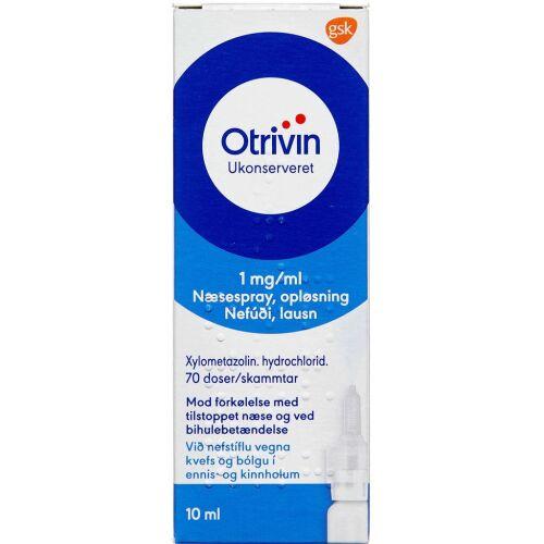 Køb OTRIVIN NÆSESPRAY U/K 1 MG/ML online hos apotekeren.dk