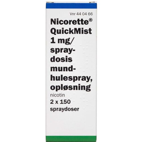 Køb NICORETTE QUICKMIST 1MG/DOSIS online hos apotekeren.dk