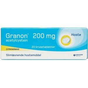 Køb GRANON BRUSETABL 200 MG online hos apotekeren.dk